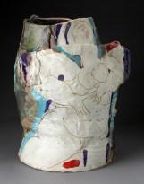 "Rudy Autio, ""Smiling Lady"" 1979, glaze, ceramic, 21.5 x 19 x 13"". photo: John Polak (Pennington)"