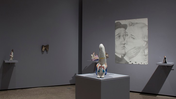 "Sergei Isupov, ""Hidden Messages"", Erie Art Museum, Installation View"