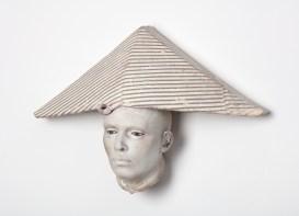 "Cristina Córdova, ""Cabeza IV"" 2018, ceramic, 17 x 11 x 5.5"""
