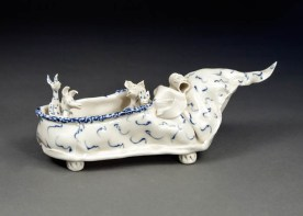 Coille Hooven, The Storytellers, 1992, porcelain, 3.625 x 11 x 4.125