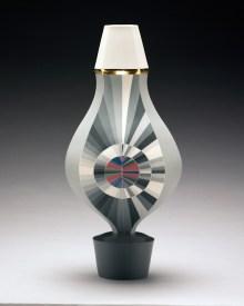 "Peter Pincus, ""Vase"" 2018, colored porcelain, 16 x 7 x 7""."