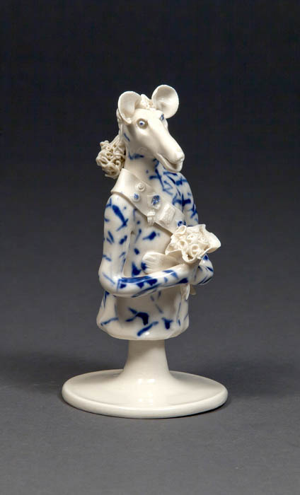Coille Hooven, The General, 1980, porcelain, 5.75 x 3.125 x 3.125""