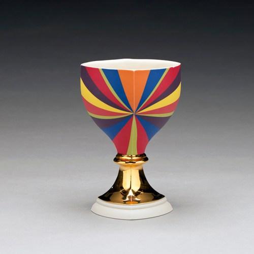 "Peter Pincus, ""Berry's Bowl, 1"" 2019, colored porcelain, 6 x 4 x 4""."