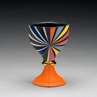 "Peter Pincus, ""Berry's Bowl 2"" 2019, colored porcelain, 6 x 4 x 4""."