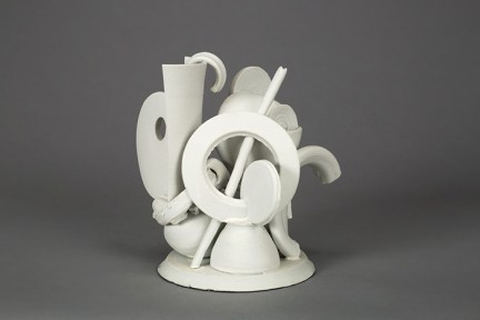 "Edward Eberle, ""Construction (a Head)"", 2015, porcelain, 6.5 x 6.75 x 5""."