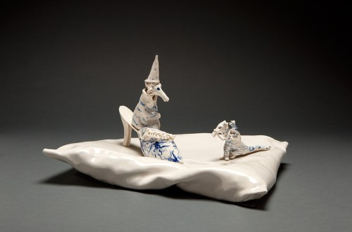 """Coille Hooven, """"The Wizard"""", 1984, porcelain, 8.25 x 13.5 x 11.5"""""""
