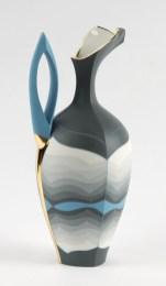 "Peter Pincus, ""Ewer, c. 1893/2018"" 2018, colored porcelain, 13 x 6 x 5""."