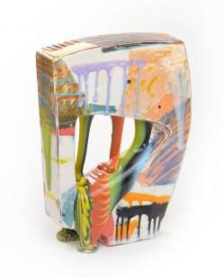 "Lauren Mabry, ""Glazescape 20.03"", 2020, earthenware, slip, glaze, 12.5 x 9 x 3.5"", view 1."