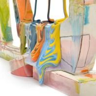 "Lauren Mabry, ""Glazescape (Double White"", 2021, red earthenware, slip, glaze, 26.5 x 27 x 9"""