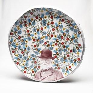 "Justin Rothshank, ""Andrew Carnegie Platter"" 2017, 20 x 20""."