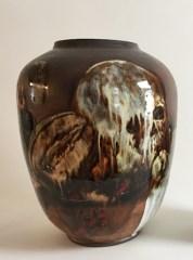 "Dirk Staschke, ""Vanitas Vase,"" 2017, ceramic, 17 x 14 x 14""."