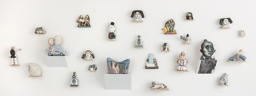 """Sergei Isupov, """"Directions"""" 2018, installation at Ferrin Contemporary. May 2018"""