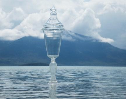 "Beth Lipman, ""Chalice and Tanalian-Mountain II"" 2014, c-print mounted to aluminum with gloss laminate, 55 x 43.5"""