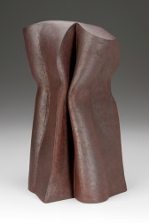 Malcolm Wright, Three Figures, 2006, wood fired brick clay, 13.5 x 8.5 x 6.75. Gift of the Artist.