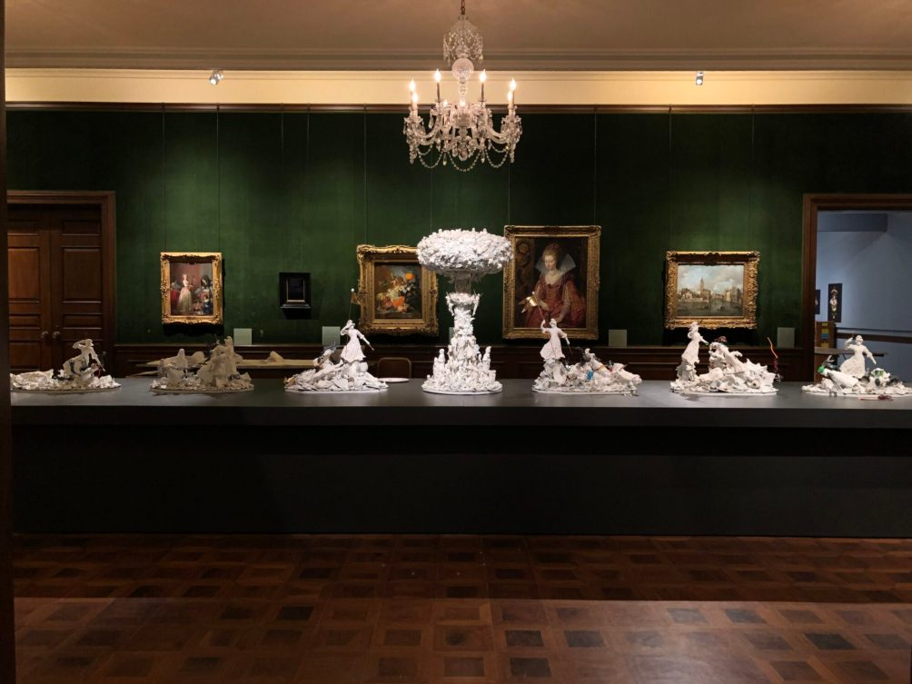 "Ferrin Contemporary, Bouke deVries, ""War & Pieces"" 2020, The Frick Pittsburgh, Installation View."