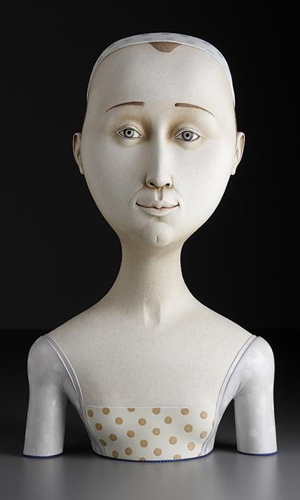 """Sergei Isupov, """"Lightness"""", 2008, stoneware, stain, glaze, 33 x 18 x 9""""."""