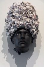 """Cristina Córdova, 'Cabeza II' 2019, ceramic, 24 x 14 x 9""""."""