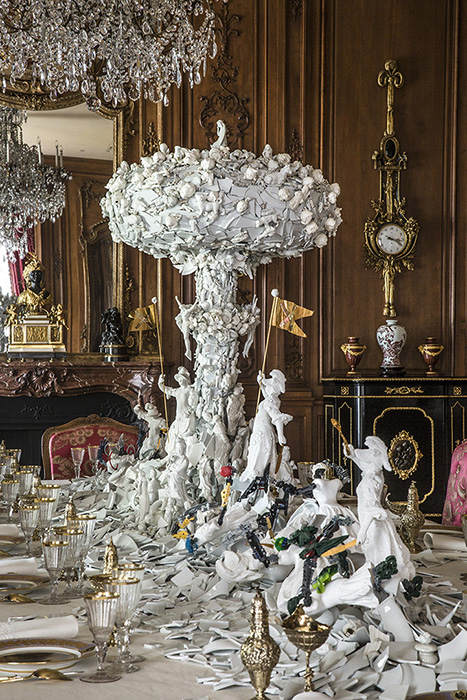 "Ferrin Contemporary, Bouke deVries, ""War & Pieces"" 2019, Hillwood Estate Museum and Gardens, Installation View."