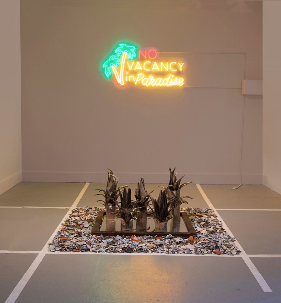 "Anina Major, Installation View, ""No Vacancy in Paradise"", 2020"