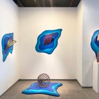"""""""Melting Point"""" Installation view with Courtney Leonard at Heller Gallery 2021"""