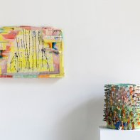 """""""Melting Point"""" Installation view with Lauren Mabry at Heller Gallery 2021"""