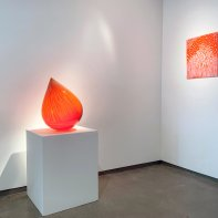 """""""Melting Point"""" Installation view with Nancy Callan at Heller Gallery 2021"""