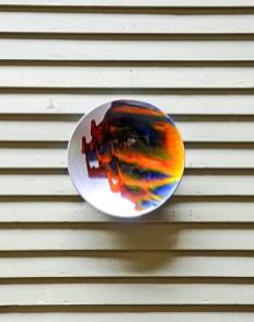 "Robert Silverman, Porches Installation, ""Untitled Bowl"", 2021, glazed porcelain, 10.5 x 10.5 x 2.25"""
