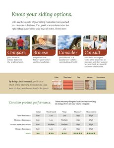 Types of Home Siding Comparison
