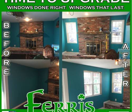 Before after windows replacement delaware