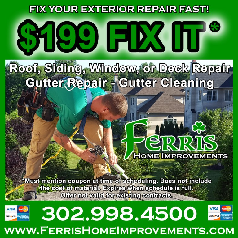 Time to Gear Up for Spring With Our $199 FIX IT Home Exterior Repairs