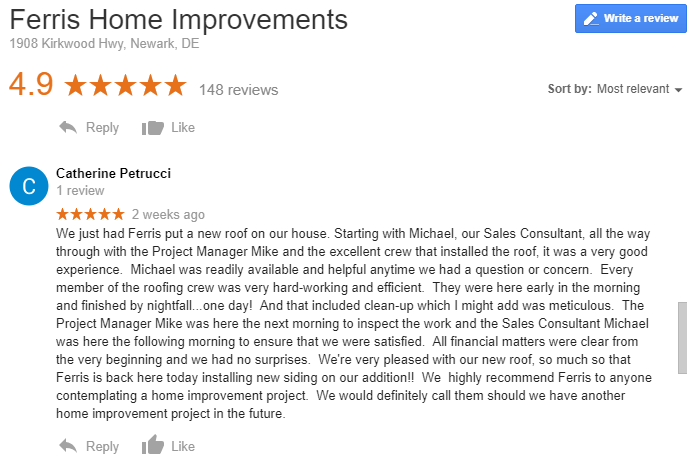 Ferris Roof Review 5 star