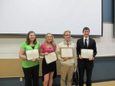 The finalists for the 11th annual Honors Speech Contest