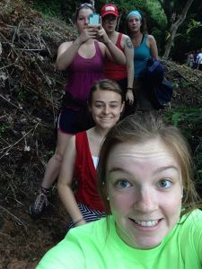 Honor students hiking in El Salvador