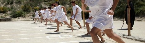 Tunic Run in Greece. Courtesy of the Honors College at St. Mary's College of Maryland.