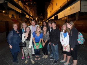 Study Abroad Group in Florence. Courtesy of the photographer.