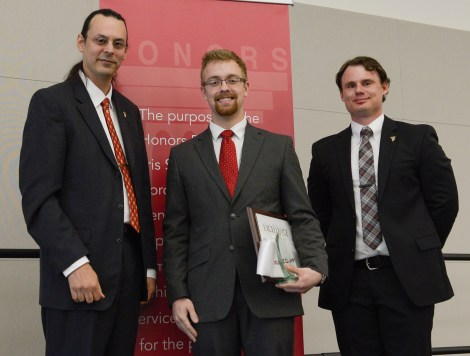 2016 Outstanding Scholar, Aaron Zebolsky. Courtesy of the Ferris State University SmugMug.