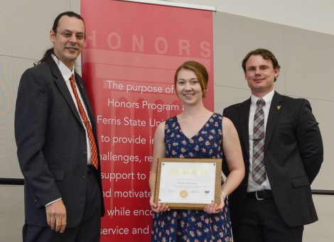 Outstanding Scholar Finalist, Rachel LaBrecque. Courtesy of the Ferris State University SmugMug.