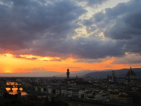 Duomo in Florence, Italy at sunset. Photo courtesy of Mckenna Mcintyre.