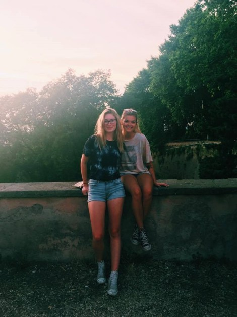 Chandler and Friend in Rome. Courtesy of Ferris State University Honors student, Chandler Owen