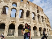 Jordan Dawkins in front of the Colosseum. Courtesy of Honors student, Jordan Dawkins.
