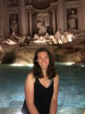 Samantha Schrotenboer in front of the Trevi Fountain. Courtesy of Honors student, Samantha Schrotenboer.