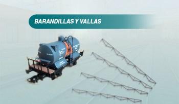 Barandilla y valla escala N Ferro3D