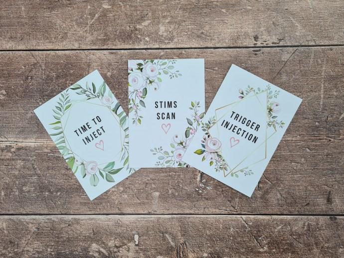 IVF Milestone Cards - Floral