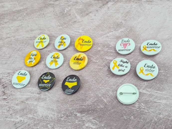 Endometriosis badges - 38mm
