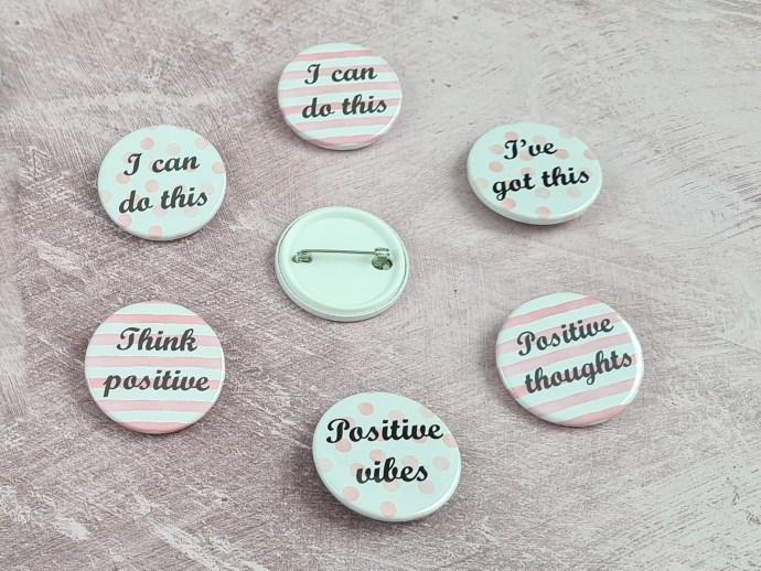 Positivity badges - 38mm