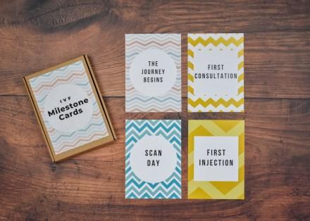 IVF Milestone Cards - Zig Zag