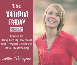 FFP 013 | Using Fertility Awareness with Irregular Cycles | Charting your Cycles while Breastfeeding | Justina Thompson