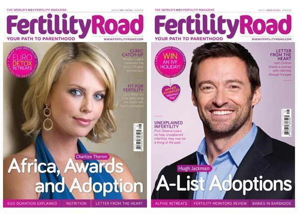 Fertility Road Magazine Charlize Theron and Hugh Jackman