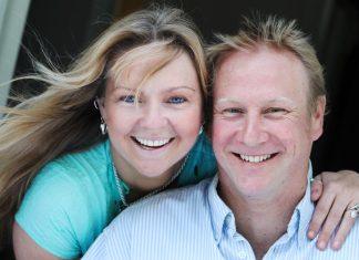 Liz Walton With Husband