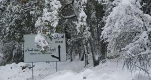 بولمان منطقة محظور السفر اليها بسبب الثلوج